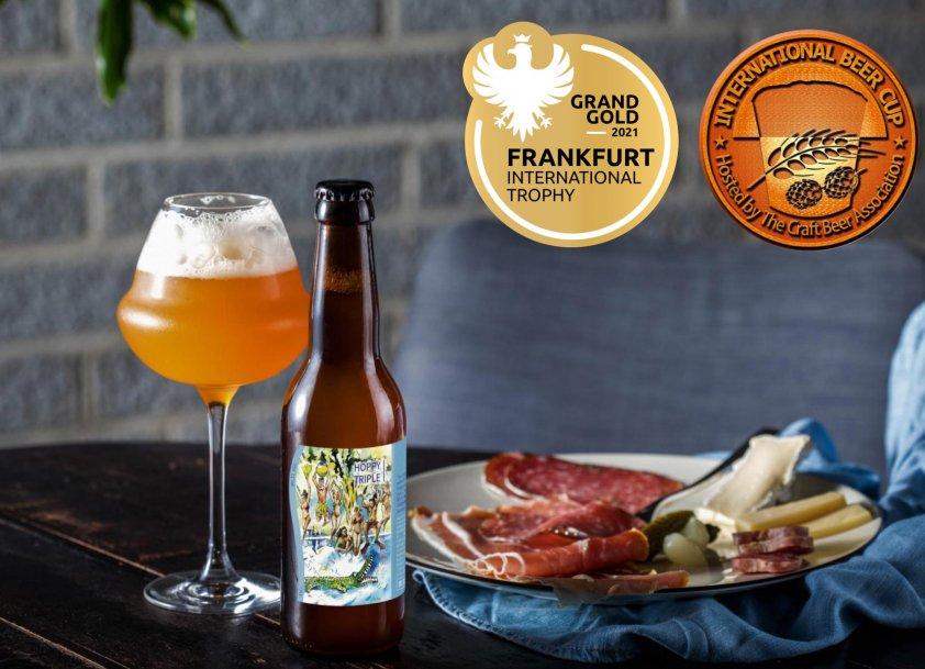 我們的經典酒款 三劍客(Hoppy Triple) 榮獲2021年法蘭克福國際競賽(Frankfurt International Trophy)大金獎(Grand Gold)!!!