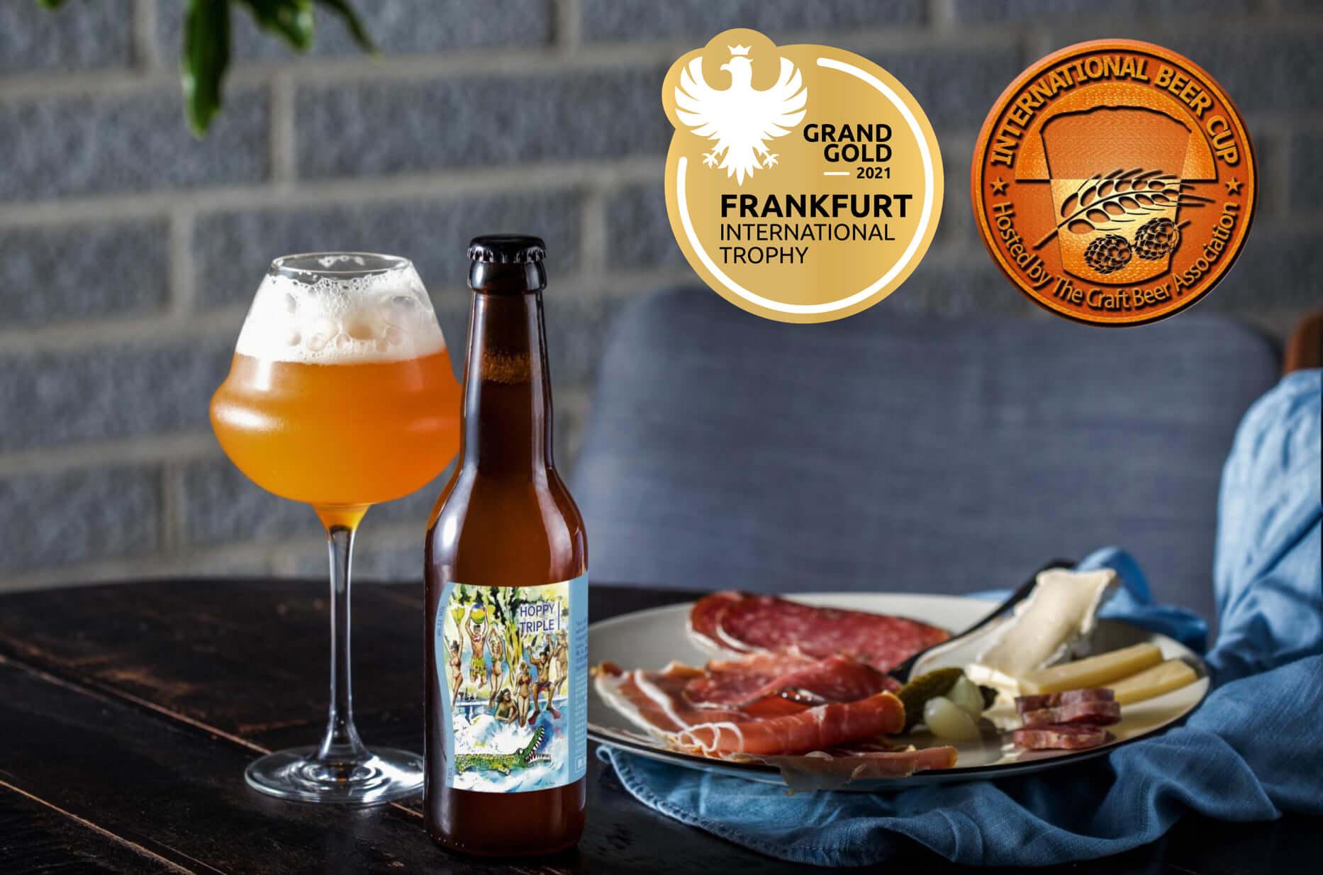 我們的經典酒款 三劍客(Hoppy Triple) 榮獲2021年法蘭克福國際競賽(Frankfurt International Trophy)大金獎(Grand Gold)!!!<br><br>